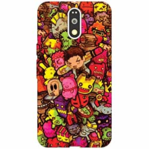 Motorola Moto G4 Plus Back Cover - Silicon Character Designer Cases