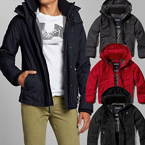 アバクロンビー&フィッチ Abercrombie&Fitch アバクロ All Season Weather Warrior Jacket ナイロンジャケット アウター メンズ レッド Mサイズ 並行輸入品 VITA655-RED-M