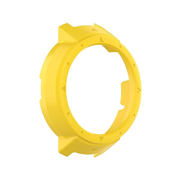 Silicone Protection Case for Amazfit Verge Watch Scratch Proof Shockproof All-Around Protective Bumper Shell (Color: Yellow B)