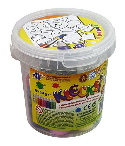 feuchtmann-giocattoli-6336212-klecksi-vernice-dito-puzzle-set-cat-12-pezzi
