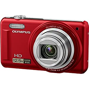 Olympus VR-320  14 MP Digital Camera with 12.5x Optical Zoom and 3 LCD (Red)