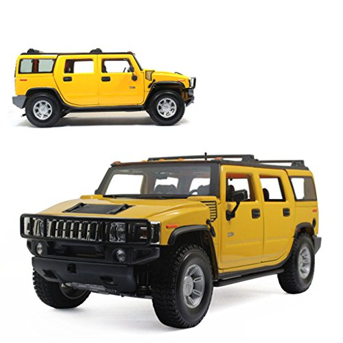 1:18 Maisto 2003 Hummer H2 SUV Yellow Diecast Model Car Vehicle New in Box (Hummer H2 1 18 compare prices)