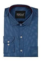 ROGUE URBAN WEAR Men's Formal Shirt (ROGSP30BLUE_BP_L, Blue, Large)