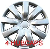 Set of Four Replica 2004 - 2006 15 inch Toyota Camry Silver Hubcaps - Wheel Covers