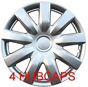 set of four replica 2004 2006 15 inch toyota camry silver hubcaps wheel covers. Black Bedroom Furniture Sets. Home Design Ideas