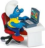 Schleich 40263  - Die Schlümpfe, Schlumpf mit Laptop