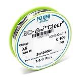 "Felder Lötdraht ISO-Core Lötzinn ""Clear"" 0.25mm 0.05kg Sn100Ni+ Sn99"