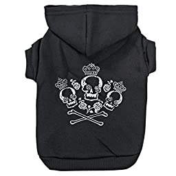 Zack & Zoey Crowned Crossbone Hoodie for Dogs, 24\