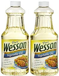 Wesson Vegetable Oil, 48 oz, 2 pk