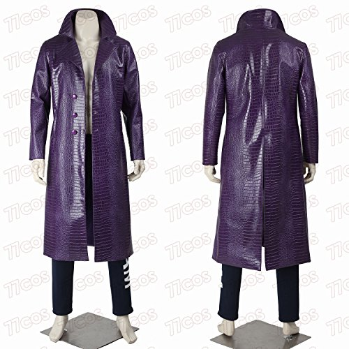 Jared Leto Joker Costume Suicide Squad Halloween Cosplay Costume Coat Pants