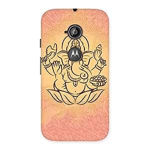 Special Jai Ganesha Print Back Case Cover for Moto E 2nd Gen