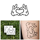 Mickey Mouse Disney Hands Temporary Tattoo (Set of 2)