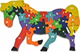 Eco-friendly Wooden Alphabet Puzzle - Horse (Wood Frame Box)