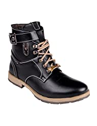 CNS Men's Casual Black Synthetic Leather Boot