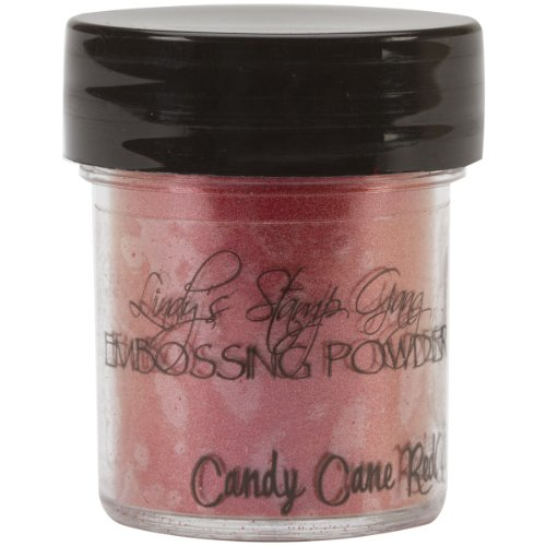 Lindy's Stamp Gang 2-Tone Embossing Powder, 0.5-Ounce Jar, Candy Cane Red Gold