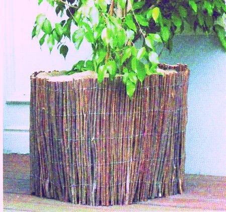Weide- Schutzmatte für Pflanzenkübel, Blumentopf - Schutz, ca. 0,5 x 1,5 m