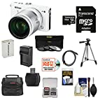 Nikon 1 J4 Digital Camera & 10-100mm VR Lens (White) with 64GB Card + Case + Battery & Charger + Filters + Tripod + Kit