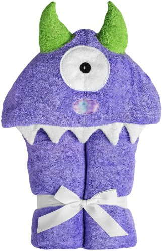 Yikes Twins Child Hooded Towel - Purple Monster - 1