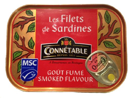Sardine Fillets Smoked In Sunflower Oil - 1 Can - 3.5 Oz