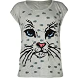 FULL TILT Kitty Face Girls Tee