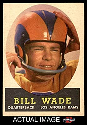 1958 Topps # 38 Bill Wade Los Angeles Rams (Football Card) Dean's Cards 4 - VG/EX