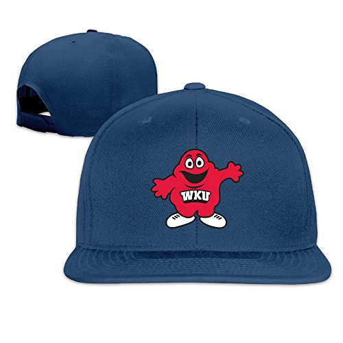 [NORAL Flat Bill Hiphop Western Kentucky University Caps Navy] (Raptors Mascot Costume)