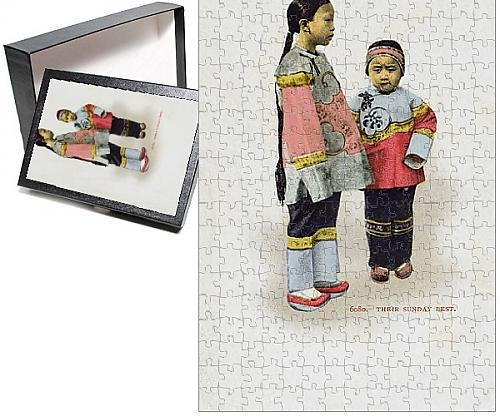 [Photo Jigsaw Puzzle of China - Young Chinese children wearing their Sunday best] (Missionary Costumes)
