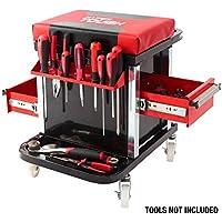 HyperTough 2-Drawer Mechanic Tool Roller Seat (Black/Red)