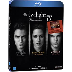 51mDmaX4E6L. SL500 AA300  Twilight Saga 1 3 [Blu ray] [Limited Edition] ab 15,97€ inkl. Versand
