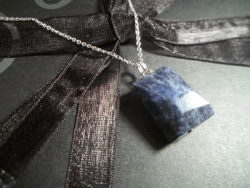 Sodalite Jasper Gemstone Necklace - Sterling Silver - EXPRESS DELIVERY - Birthday, Mother's Day, Anniversary, Valentine's