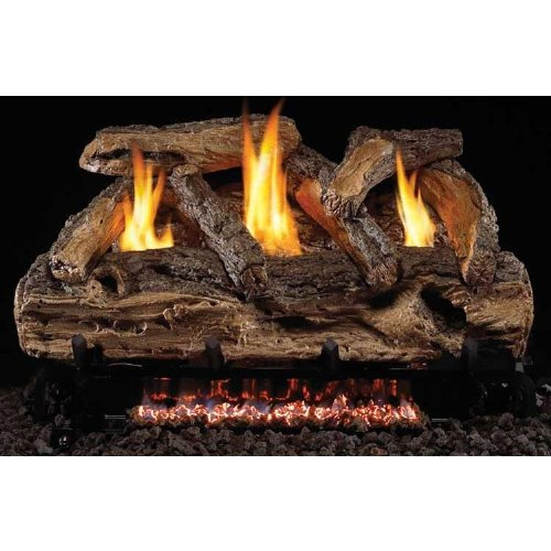 Peterson Gas Logs 24 Inch Split Oak Vent Free Natural Gas Log Set With Ansi Certified G9 Burner And Manual Safety Pilot