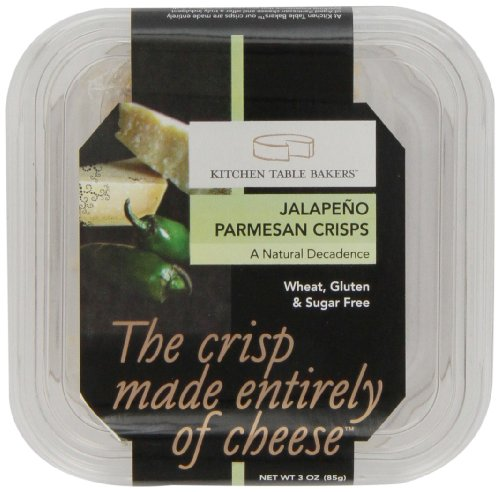 Kitchen Table Bakers Aged Parmesan Crisps 3 Ounce Packages Pack Of 4 Food Beverages Tobacco