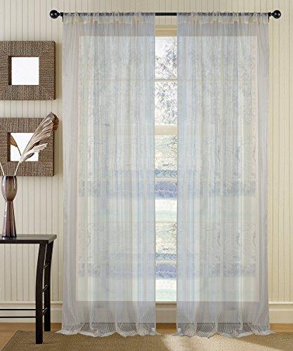 Deco Window Sheer Curtain Radhika Champagne 5 ft Window