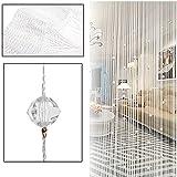 Größe: 1 x 2m (W x H) Perlen Quaste Stil sieht lebhaft und komfortable Kann auch als Hintergrund für eine Shop-Fenster-Anzeige verwendet werden