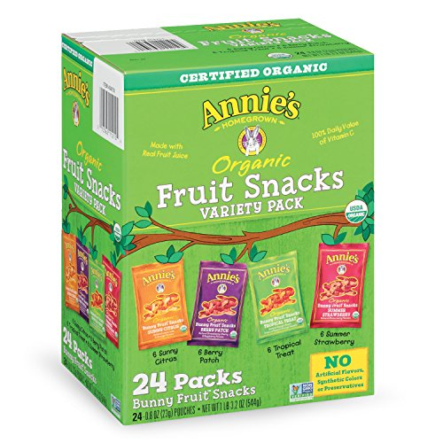 Annie's Homegrown Organic Bunny Fruit Snacks Variety Pack 0.8 Oz (24 ct) (Fruit And Plenty compare prices)