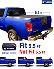 TYGER Tri-Fold Pickup Tonneau Cover Fits 04-15 Nissan Titan (with/without Utility Track) 5.5 feet (66 inch) Trifold Truck Cargo Bed Tonno Cover (NOT For Stepside)