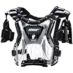 Thor MX Quadrant Protector Youth Roost Deflector Dirt Bike Motorcycle Body Armor - Clear/Black / One Size