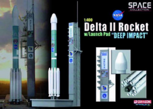 Dragon Models 1/400 Delta II Rocket With Launch Pad