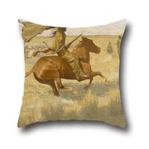 16 X 16 Inch / 40 By 40 Cm Oil Painting Frederic Remington - Change Of Ownership (The Stampede; Horse Thieves) Throw Cushion Covers,both Sides Is Fit For Kitchen,shop,bench,wife,study Room,teens Boys