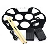 PME W758 Portable 9 Pad Drum Roll-up Drum Kit High Quality Material Color White