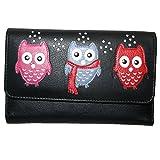 Mala Leather Medium Trifold Purse Style Kyoto 324245 Pattern