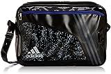 [アディダス] adidas FB エナメルバッグ L KBP85 A97135 (ブラック/DGH ソリッドグレー)