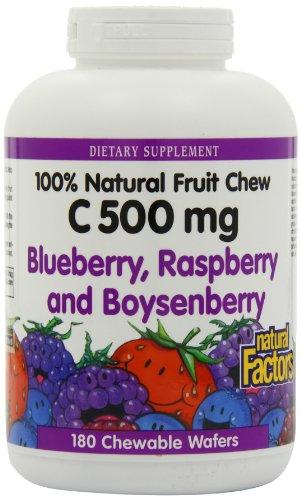 Natural Factors Vitamin C Blueberry, Raspberry ...