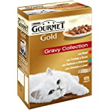 Purina Gourmet Gold Gravy Collection Cat Food 12 x 85 g (Pack of 8)