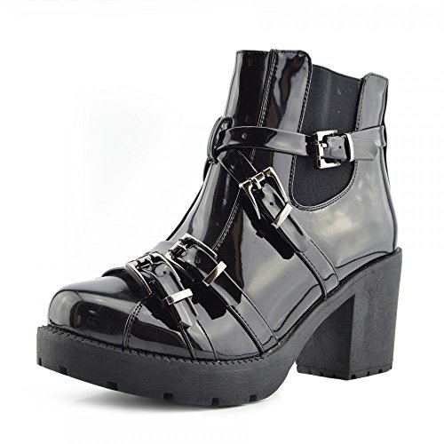 Kick Footwear, Stivali donna, Nero (Vernice nera), 41 EU