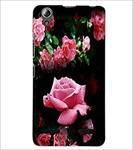 PrintDhaba Roses D-4163 Back Case Cover for LENOVO A6000 (Multi-Coloured)