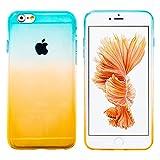 MORE CRYSTAL iPhone6 Plus / iPhone6s Plus(5.5インチ)用 グラデーション TPUケース イエロースカイブルー スマホ スマートフォン ケース カバー スマホカバー スマホケース iPhone6Plus iPhone6sPlus アイフォン6プラスケース アイフォン6sプラスケース 携帯カバー シリコンケース ソフトケース 人気 トレンド 手帳型 フリップケース スタンド a058 15IE12-3-YELSBU