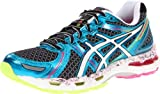 ASICS Women's Gel-Kayano 19 Running Shoe,Black/White/Flash Pink,7.5 M US