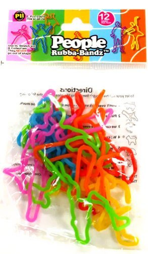 51mDzYtPMQL Cheap  Rubba Bandz Shaped Rubber Bands Bracelets 12Pack People