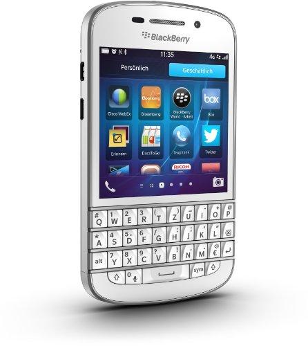 BlackBerry Q10 (QWERTZ) unlocked without Branding - white
